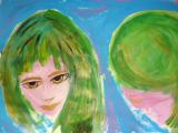 <h5>Capelli verdi</h5><p>tempera su carta </p>