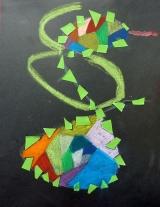 <h5>Il serpente </h5><p>immagine realizzata attraverso la tecnica dello scarabocchio</p>