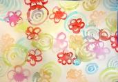<h5>fiori nell'acqua </h5><p>chine colorate su carta bagnata</p>