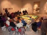 <h5>Fiori d'irlanda in uno specchio d'acqua </h5><p>Laboratorio di knitting  art collettivo  presso la Promotrice di Belle Arti Torino.</p>
