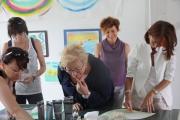 """<h5>realizzazione dell'opera collettiva</h5><p>Atelier di arteterapia realizzato nella giornata formativa del """"Gruppo </p>"""
