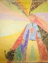 <h5>io il mio gatto e la mia fantasia</h5><p>lavoro sulla propria sagoma di una bambina di 10 anni </p>